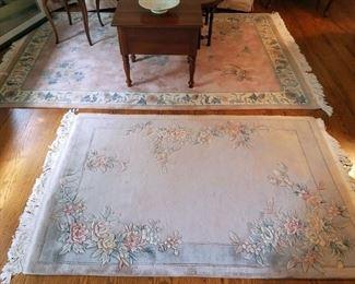 Vintage silk rugs