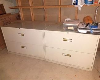 Double file cabinets