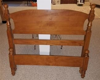 Wood twin headboard and foot board