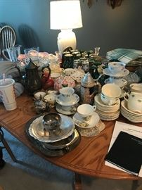 Vintage dishes and glassware