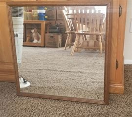 Square Wall Hanging Mirror with Beveled Edges