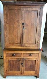 Step Back 2 Piece Antique Kitchen Cabinet