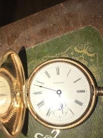 1896 Waltham 14k gold pocket watch!