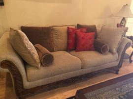 large deep-seat sofa! You, your husband, your two dogs and surly cat can all lounge on this comfortably!