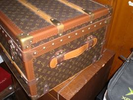 This Louis Vuitton cabin trunk was never taken on a trip  and is in unbelievable condition