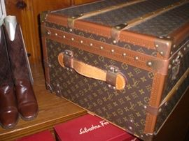Detail of the Louis Vuitton cabin trunk