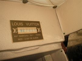 the label on the Louis Vuitton cabin trunk