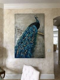 Large Peacock painting