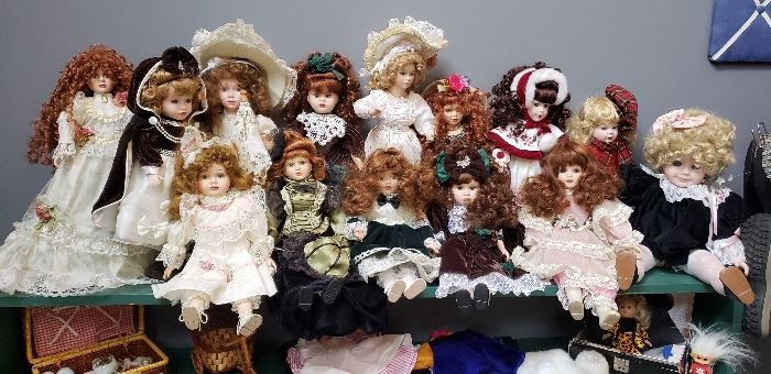 Large Selection of Dolls