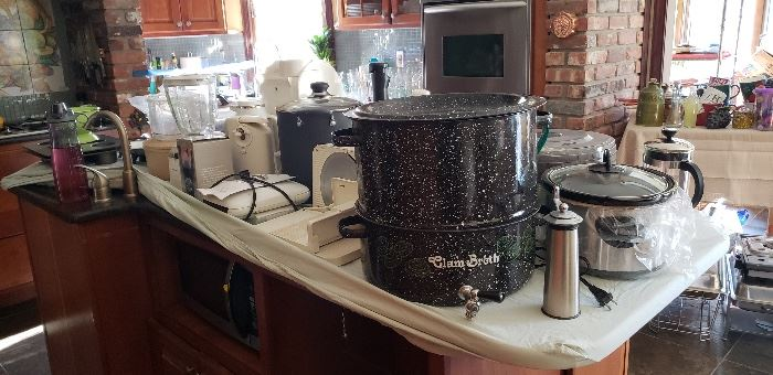Large Assortment of Small Kitchen Appliances