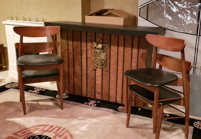 Mid Century Chairs and Bar