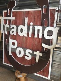 Vintage store front sign