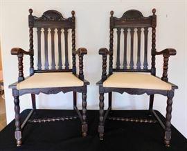 #9 Pair of handmade chairs $300.00