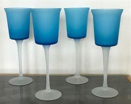 Vintage satin glass  large goblets