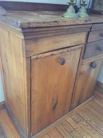 Antique pine cabinet