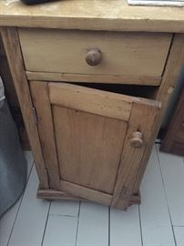Antique pine side cabinet
