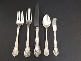 Detail of Chateau Rose by Alvin Sterling flatware
