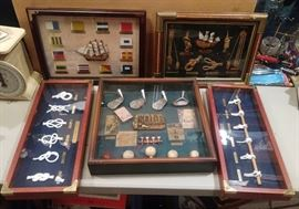Nautical and Golfing shadow boxes