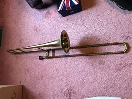 Olds brothers trombone. Vintage early 1950's. Very good condition. No dents.