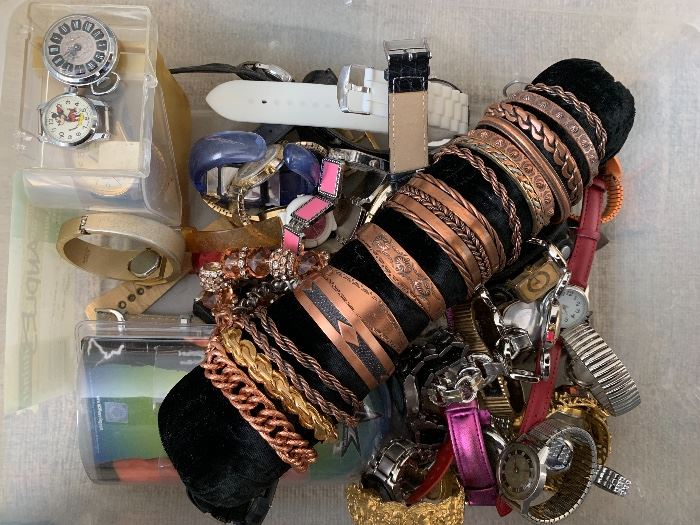 Copper Bracelets and watches