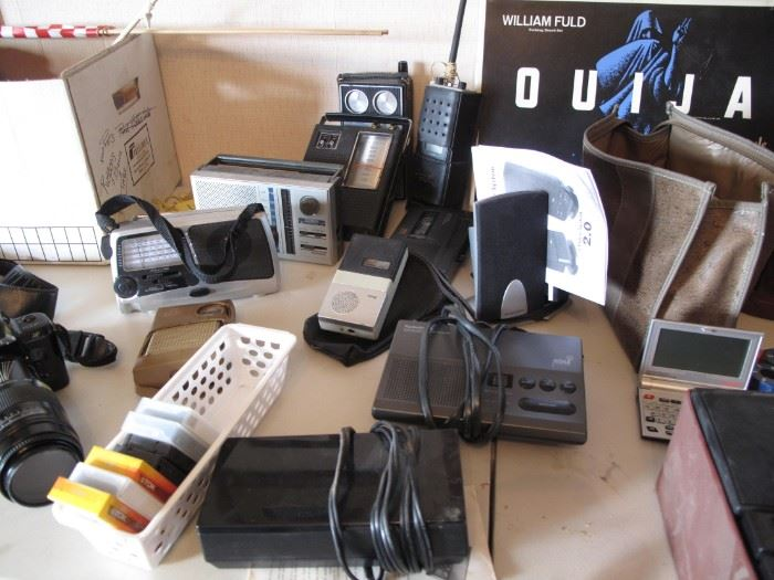 Radios and recorders of ALL kinds!  Board games