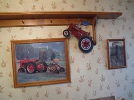 Tractor themed collector items - pictures, pillows, clocks and more!