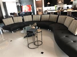 HIGH END ARTEK 5 PIECE  SECTIONAL WITH FLEX STEEL BY LAZAR INDUSTRIES  RETAIL $10,000.00