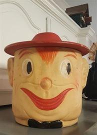 Vintage Cookie Jar - Man's Smiling Face