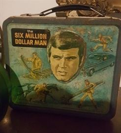70's Metal Lunch Box-Six Million Dollar Man