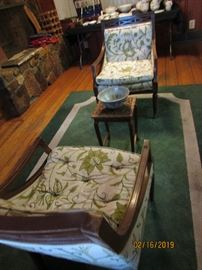 Vintage chairs & thick Carpet