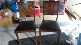 2 Wicker back foldable chairs