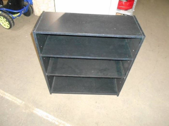 Black Three Shelf Book case