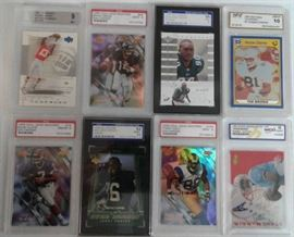 Eight Professionally Graded Football Trading Cards ...