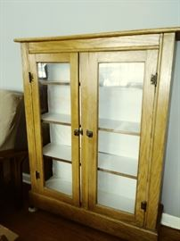 Antique glass door cabinet