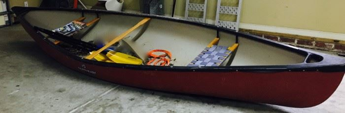 North East Canoe with paddle