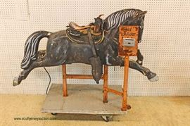VINTAGE Coin Operated Horse – auction estimate $400-$800