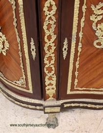 French Style Marble Top Credenza with Elaborate Applied Bronze and Bronze Paw Feet – auction estimate $300-$600