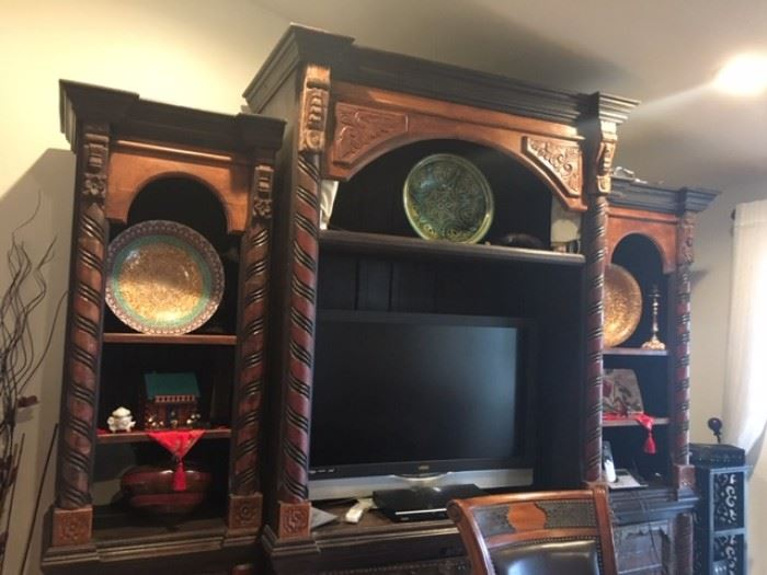 China cabinet handcarved in India