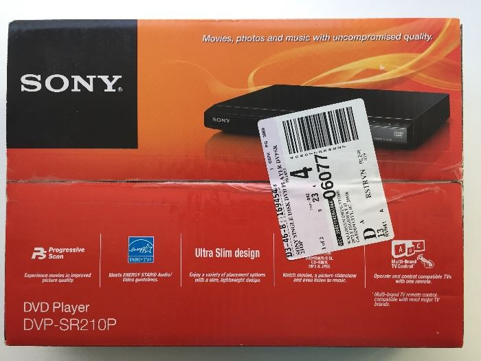 Sony DVD player; brand new, never opened