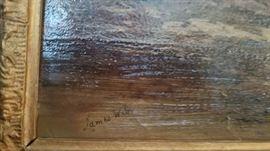 Signature James Webb oil painting