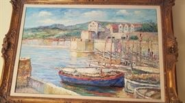 """Original oil painting by John Clymer. Canvas enclosed size 28""""x 35"""" framed size 31""""x 43"""""""