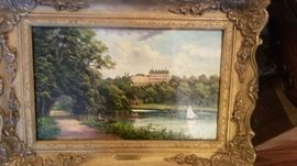 Original oil painting by James Isaiah Lewis (1861-1934)