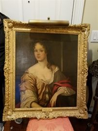 Large antique 18th century portrait painting. All original! This painting is available to purchase  before the sale. Contact Donna serious buyers only 770-35-7638