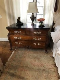 Polo Ralph Lauren chest by Henredon, marble top, two locking drawers.