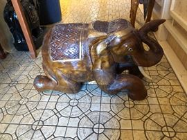 Solid hand carved teakwood elephant circa 1960s..Excellent condition