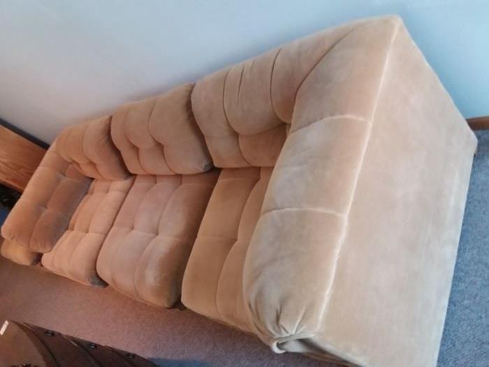 Bernhardt sectional sofa, with ottoman.