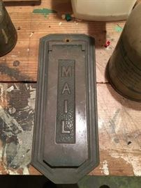 Old Brass Mail Slot