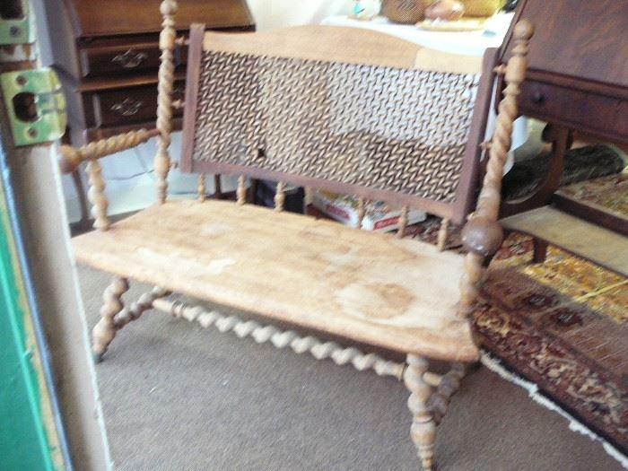 Antique Carved Bench Starting at $120