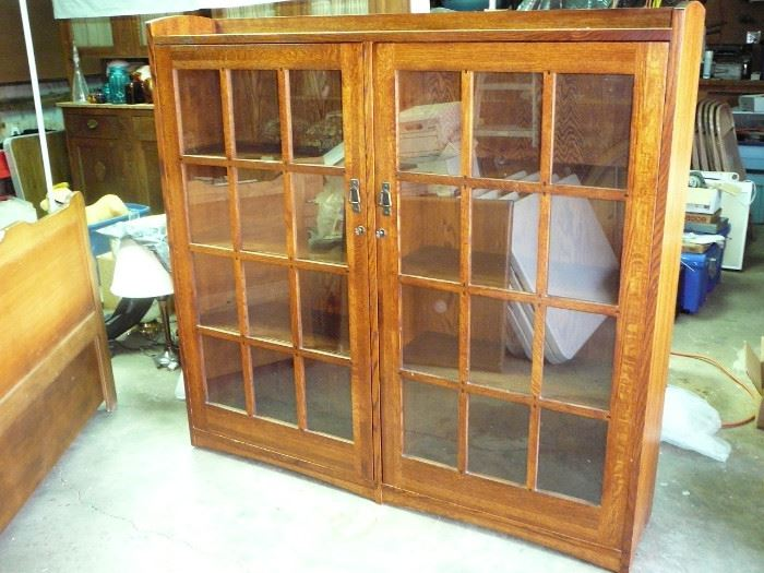Gustaf Stickley Style Bookcase made by Michael Vermillion  was $5000 new - we are starting at $1500 if its still here on Saturday it will be $750