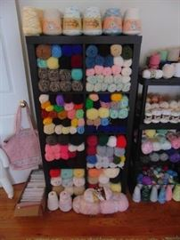 HUGE selection of yarn and other crafts.